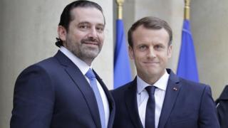 Le Premier ministre Hariri accueilli à l'Elysée par le Président Macron