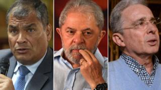 Correa, Lula e Uribe