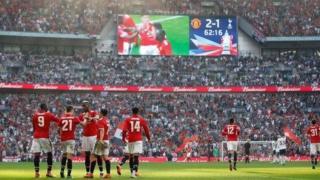 'Yan wasan Manchester United na murnar kaiwa wasan karshe na FA