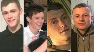 Caelan Megson, Brandon Frew, Declan Grove, Matt Walshaw