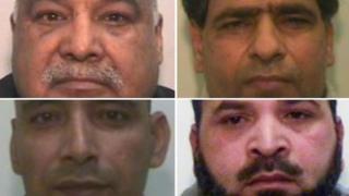 Clockwise from top left: Shabir Ahmed, Abdul Aziz, Adil Khan, Abdul Rauf