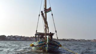 A dhow made by recycled plastic off Kenya's coast - Wednesday 23 January 2019