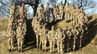 Royal Regiment making the figure 10