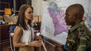 Victoria Parkinson at work in Sierra Leone