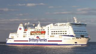A Brittany Ferries vessel