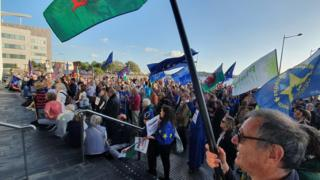 Protest on the Senedd Steps