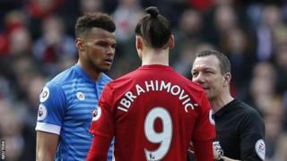 Zlatan Ibrahimovic na Tyrone Mings hawakuadhibiwa