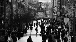 Buchannan Street, Glasgow on a cold afternoon