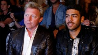 Boris Becker and his son Noah pictured at 2012 Berlin Fashion Week