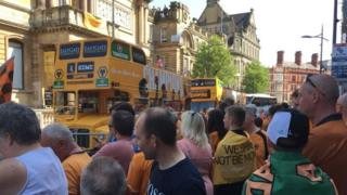 Buses ready to leave
