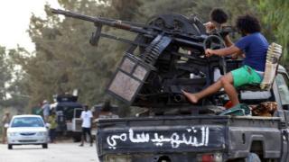 """Ливийские """"военные"""" в Триполи"""