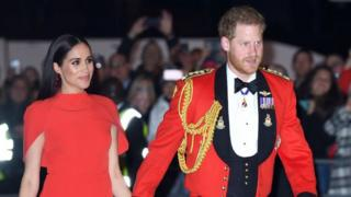 Prince Harry, Duke of Sussex and Meghan, Duchess of Sussex attend the Mountbatten Festival of Music at Royal Albert Hall on 7 March