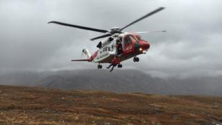 Inverness-based Coastguard helicopter
