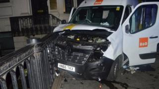 الشاحنة الفان التي استخدمت في هجوم لندن بريدج