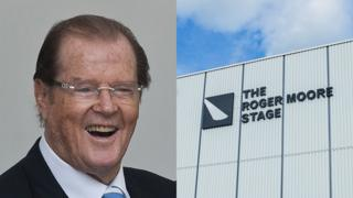 Sir Roger Moore and the new stage