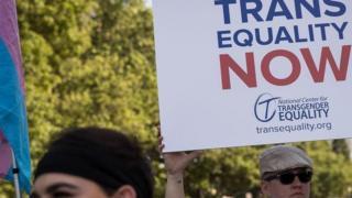 Protesto por igualdade de direitos das pessoas trans