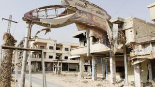Deraya'da tahliyelerden sonra kent boşaldı.