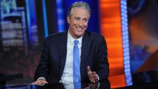 Jon Stewart in The Daily Show nel 2015
