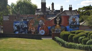Completed Leicester Thai mural