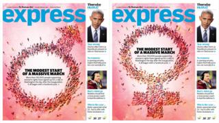 Washing Post Express front covers