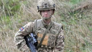 Royal Army Veterinary Corps Dog Handler Private Beth Johnson