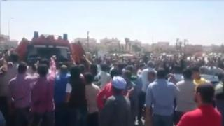 Screengrab of video showing protest in Rehab on 19 April 2016