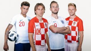 Àwọn agbábọ́ọ̀lù ikọ̀ England àti Croatia
