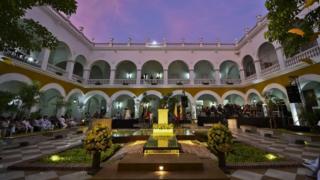 Courtyard of La Merced monastery, Cartagena 22 May 2016