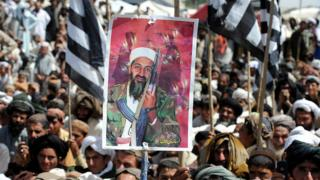 Protesters in Pakistan following the death of Osama bin Laden
