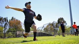Sonoma Stompers pitcher Sean Conroy