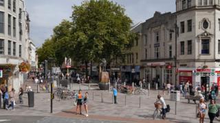 Cardiff's Queen Street,