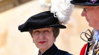 Princess Royal attends the Order Of The Garter Service at Windsor Castle