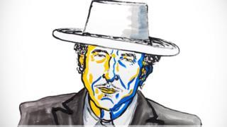 Nobel'in hazırladığı Bob Dylan illüstrasyonu