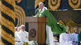 Pope Francis in Asuncion Mass