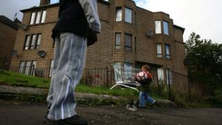 Children in deprived part of Glasgow