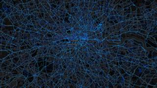 London - cycling routes (by Strava users 2015)