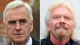 John McDonnell and Sir Richard Branson