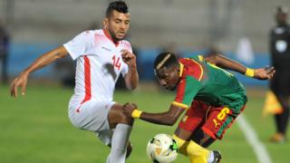 match Tunisie Cameroun.