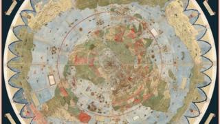 El mapamundi fue creado por un cartógrafo italiano en el siglo XVI. (Foto gentileza de David Rumsey Map Collection).