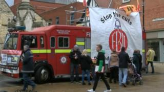 FBU protest