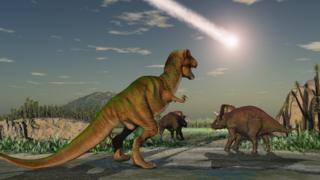 Dinosaurs-with-asteroid.