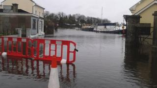 A number of the car parks in Carrick-on-Shannon in County Leitrim have been under water