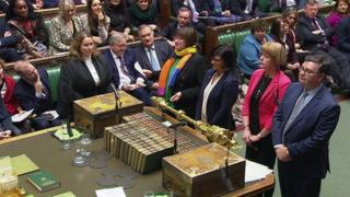 MPs announce outcome of vote