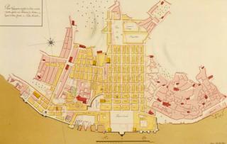 Plan for Lisbon after the 1755 earthquake