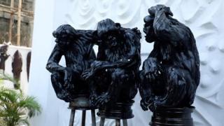 обезьяны из покрышек