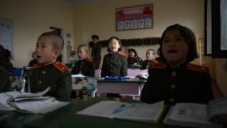 북한의 학생들