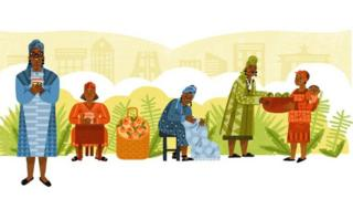 The graphic of the Google Doodle celebrating Ghana's Esther Afua Ocloo
