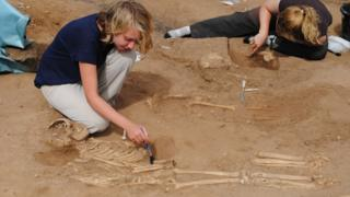 Skeletons uncovered at Thornton Abbey