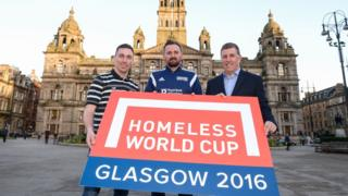 David Duke launch of Homeless World Cup