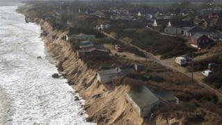 Aerial view of houses at The Marrams in Hemsby